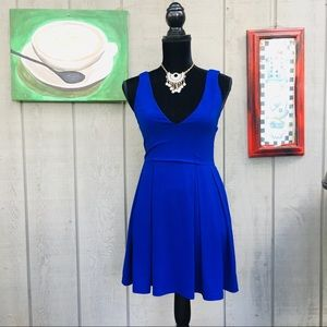 Tobi Royal Blue fit and flare dress size small.